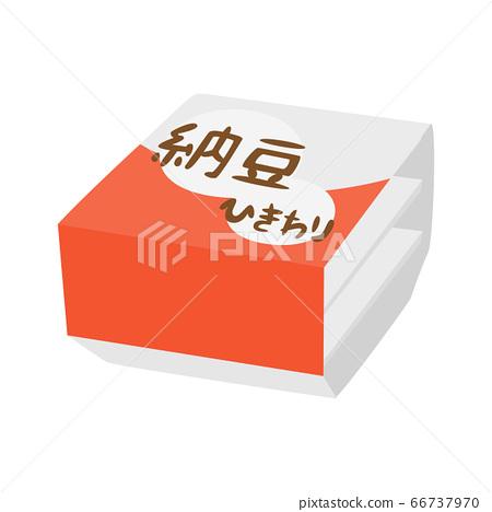 在包裹包裹的納豆的例證。 66737970