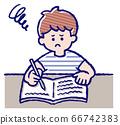 一個男孩在學習 66742383