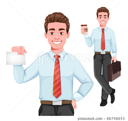 Handsome businessman in business clothes. 66748053