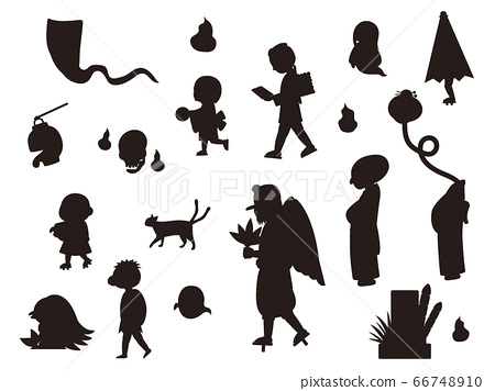 Youkai silhouette material collection 66748910