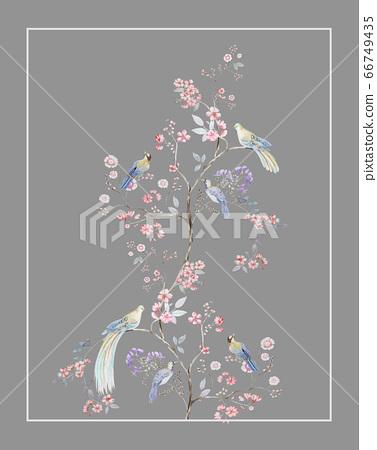 色彩豐富的水彩花素材組合和設計元素 66749435