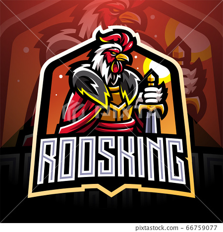 Rooster king esport mascot logo  66759077