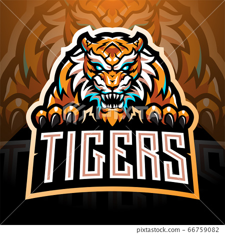 Tiger face esport mascot logo  66759082