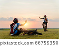 Woman riding mountain bike was accident crashed 66759350