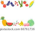 夏季蔬菜和水果(上下框架) 66761736