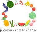 夏季蔬菜和水果(圓形框架) 66761737