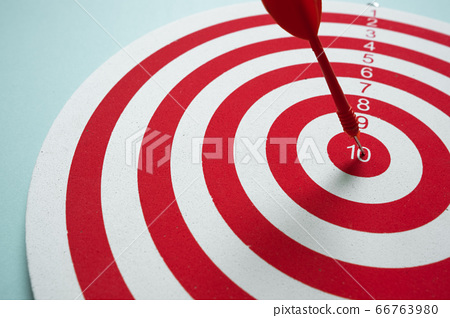 Dart game. Challenge opportunity success risk business concept 66763980