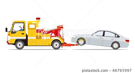 清障車拖壞車(側身) 66765997