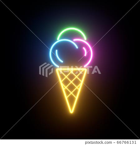 霓虹燈標誌背景 66766131