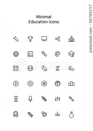 極簡主義教育圖標 66766257