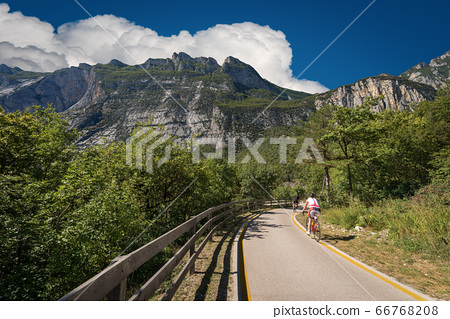 Bicycle Lane in Sarca Valley - Trentino Alto Adige Italy 66768208