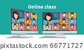 在線課程或會議。電暈病毒隔離導致的遠程教育 66771727