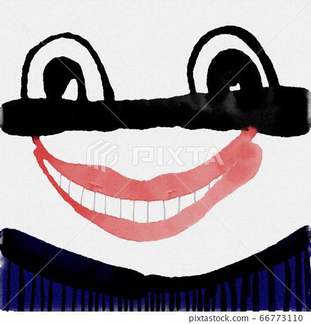 抽象搞笑的水彩表情插畫 66773110