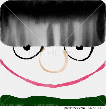 抽象搞笑的水彩表情插畫 66773112