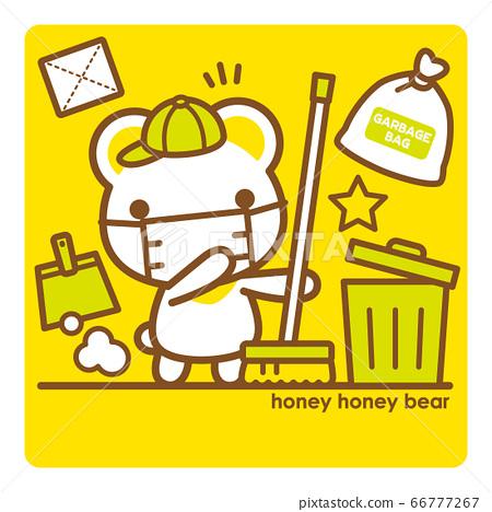 蜂蜜蜂蜜熊清潔面膜 66777267