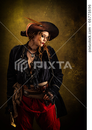Portrait of a privateer in profile 66778696
