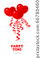 Vector red balloon in form of heart 66780460
