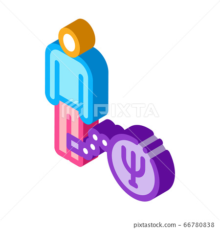 severity in form of psychological disorder in human isometric icon vector illustration 66780838