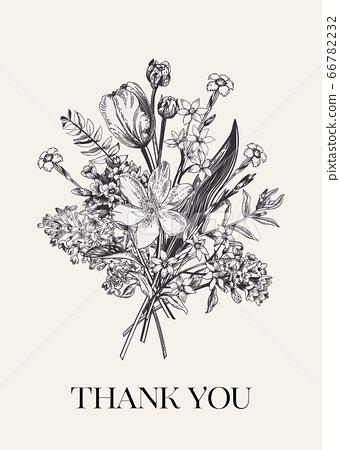 Flower bouquet. 66782232