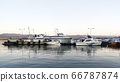Izmit Port, Turkey - June 5, 2020: Izmit port and boats at the pier landscape. 66787874
