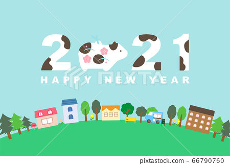 2021 Reiwa 3 years New Year's card material 66790760