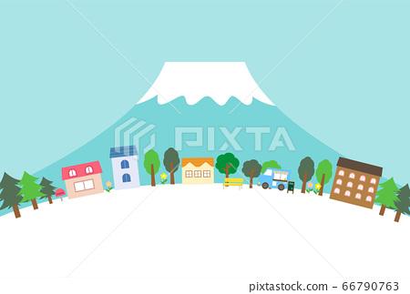 富士山的一條街 66790763