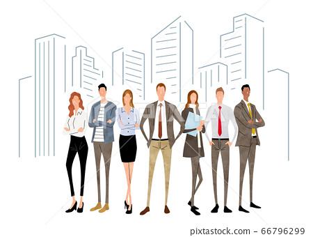 插圖素材:人物,商業場景,團隊 66796299