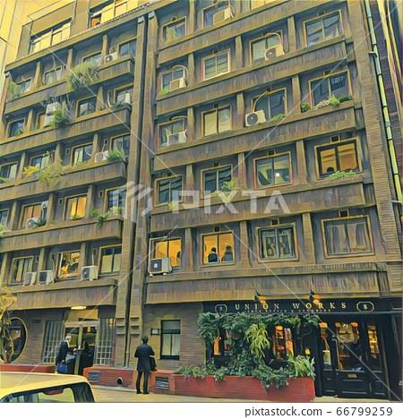 Neo antique building 66799259