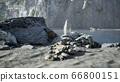 Sand beach among rocks at Atlantic Ocean coast in 66800151