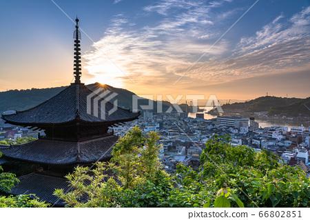 《廣島縣》尾道,三塔和太陽的黎明 66802851