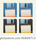 retro diskettes set on white 66809713