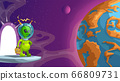 green funny alien space tourist 66809731