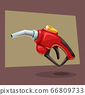 fuel filling gun red cartoon 66809733