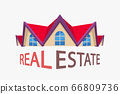 estate colored icon on white 66809736