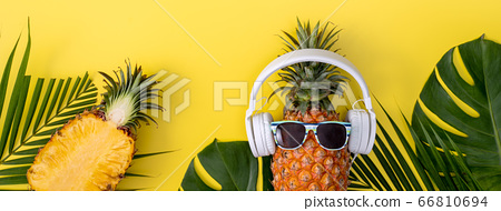 鳳梨入耳器聽音樂蜖圖菠蘿耳機菠蘿耳機 66810694