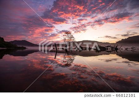 早晨的大清湖樂活公園 66812101