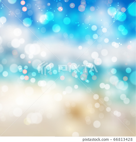 Bokeh lights effect on summer gradient background 66813428