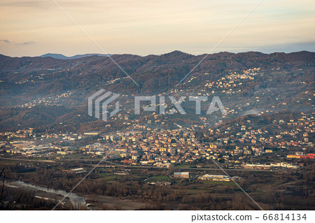 Val di Magra Tuscany and Liguria - Valley of the river Magra in winter 66814134