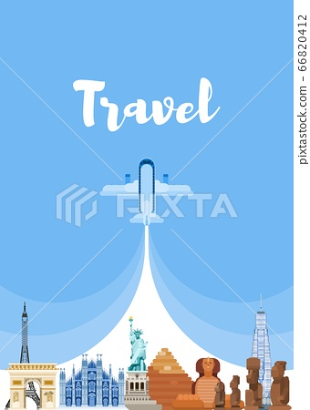 travel around the world. visit famous sights new 66820412