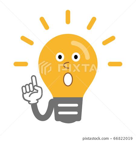 發光燈泡的擬人化插圖 66822019