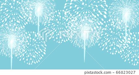 불꽃 놀이 여름 축제 배경 66823027