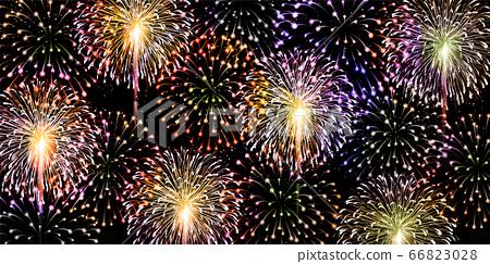 불꽃 놀이 여름 축제 배경 66823028