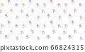 Hand drawn peach fruit seamless pattern 66824315