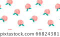 Hand-painted peach fruit seamless pattern fruit watercolor 66824381