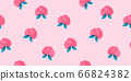 Hand-painted peach fruit seamless pattern fruit watercolor 66824382