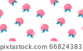 Hand-painted peach fruit seamless pattern fruit watercolor 66824383
