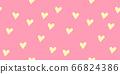 Hand drawn heart seamless pattern 66824386