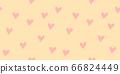 Hand drawn heart seamless pattern 66824449