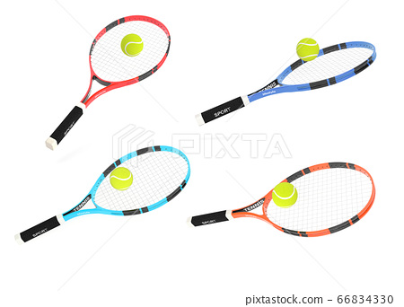 Tennis rackets with balls 66834330