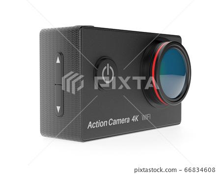 Action camera. 3d rendering illustration 66834608